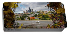 Seattle Autumn Cityscape Portable Battery Charger