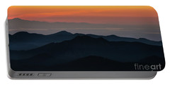 Seattle Puget Sound And The Olympics Sunset Layers Landscape Portable Battery Charger by Mike Reid
