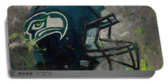 Seattle Seahawks Football Helmet Wall Art Portable Battery Charger