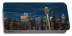 Seattle Skyline Blue Hour Portable Battery Charger