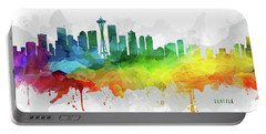 Seattle Skyline Mmr-uswase05 Portable Battery Charger by Aged Pixel