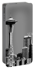 Seattle Skyline Space Needle - Pewter Portable Battery Charger