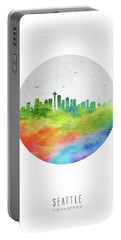 Seattle Skyline Uswase20 Portable Battery Charger by Aged Pixel