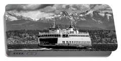 Seattle To Bremerton Ferry Portable Battery Charger by Greg Sigrist