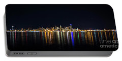 Seattle, Washington Skyline #2 Portable Battery Charger by Patrick Fennell