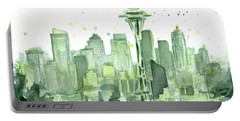 Seattle Watercolor Portable Battery Charger