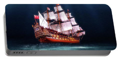 Portable Battery Charger featuring the digital art Seaworthy by Michael Cleere