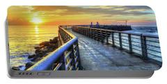 Sebastian Inlet Pier Along Melbourne Beach Portable Battery Charger