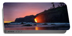 Portable Battery Charger featuring the photograph Second Beach Light Shaft by Dan Mihai