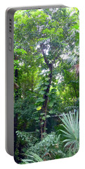 Portable Battery Charger featuring the photograph Secret Bridge In The Tropical Garden by Francesca Mackenney