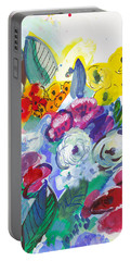Secret Garden With Wild Flowers Portable Battery Charger