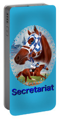 Secretariat Racehorse Portrait Portable Battery Charger
