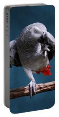 Secretive Gray Parrot Portable Battery Charger