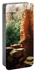 Sedona Red Rocks Ruins Portable Battery Charger by Ellen Levinson