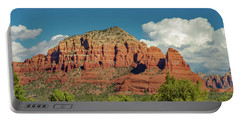 Portable Battery Charger featuring the photograph Sedona, Rocks And Clouds by Bill Gallagher