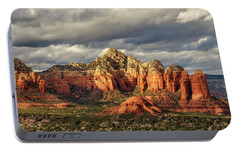 Portable Battery Charger featuring the photograph Sedona Skyline by James Eddy