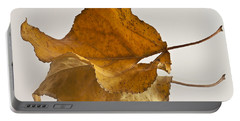 Seeing Double Autumn Leaf  Portable Battery Charger