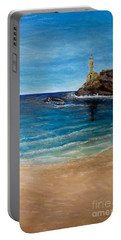 Portable Battery Charger featuring the painting Seek A Source Of Light Built On A Firm Foundation To Guide You Safely To Shore by Kimberlee Baxter