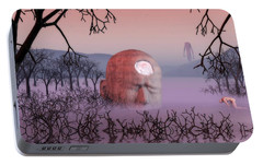 Portable Battery Charger featuring the digital art Seeking The Dying Light Of Wisdom by John Alexander