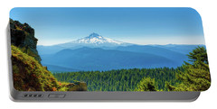Mt Hood Seen From Beyond Portable Battery Charger