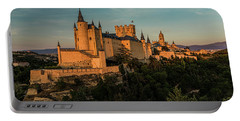 Segovia Alcazar And Cathedral Golden Hour Portable Battery Charger