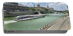 River Seine In Paris Portable Battery Charger