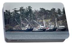 Portable Battery Charger featuring the photograph Seiners In Nw Bay by Randy Hall