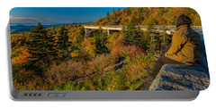 Seize The Day At Linn Cove Viaduct Autumn Portable Battery Charger
