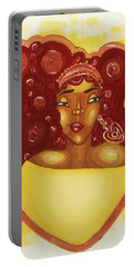 Portable Battery Charger featuring the painting Self Love by Aliya Michelle