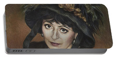 Self-portrait A La Camille Claudel Portable Battery Charger by Yvonne Wright