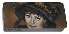 Self-portrait A La Camille Claudel Portable Battery Charger