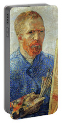Portable Battery Charger featuring the painting Self Portrait As An Artist by Van Gogh