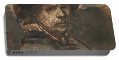 Self Portrait By Rembrandt Portable Battery Charger