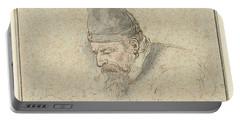 Self Portrait Of Henry Avercamp, Hendrick Avercamp, 1592-1629 Portable Battery Charger