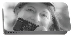 Self Portrait With A Ricoh Portable Battery Charger
