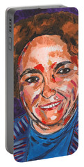 Self-portrait With Blue Jacket Portable Battery Charger