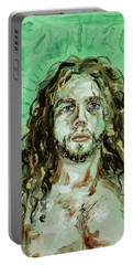 Self Portrait -with Emerald Green And Mummy Brown- Portable Battery Charger