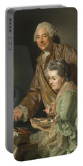Self-portrait With His Wife Marie-suzanne Giroust Portable Battery Charger