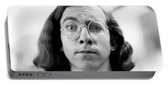 Self-portrait, With Raised Eyebrow, 1972 Portable Battery Charger