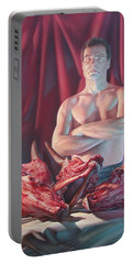 Self Portrait With Slaughtered Cow Heads Portable Battery Charger