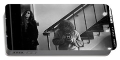 Self-portrait, With Woman, In Mirror, Full Frame, 1972 Portable Battery Charger