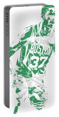 Semi Ojeleye Boston Celtics Pixel Art 2 Portable Battery Charger