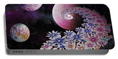 Portable Battery Charger featuring the digital art Seminal Flowers by Rosa Cobos