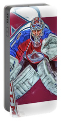 Semyon Varlamov Colorado Avalanche Oil Art Portable Battery Charger