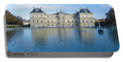 Portable Battery Charger featuring the photograph Senat From Jardin Du Luxembourg by Christopher Kirby