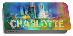 Sending Love To Charlotte Portable Battery Charger by Jai Johnson