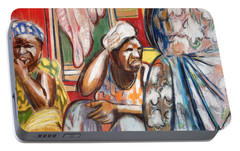 Portable Battery Charger featuring the painting Senegal, 1965 by Gary Coleman