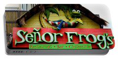 Senor Frogs Portable Battery Charger by Michiale Schneider