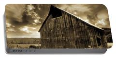 Sepia Historic Barn Portable Battery Charger