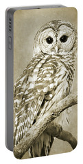 Sepia Owl Portable Battery Charger